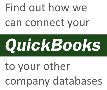 Integrate Intuit Quickbooks with your company database in real-time.