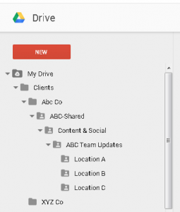 how to change location of google drive folder