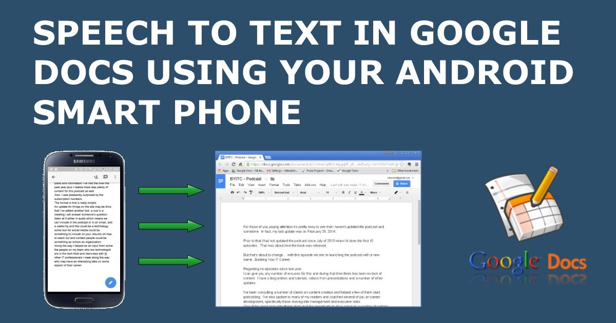 speech to text for google docs using your android smart phone With google docs speech to text android