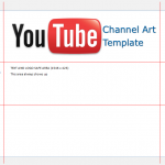 YouTube channel art template Microsoft Publisher