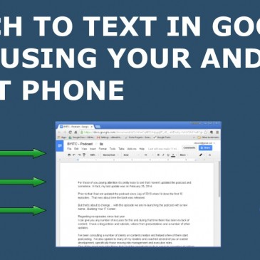 Speech to Text for Google Docs using your Android Smart Phone