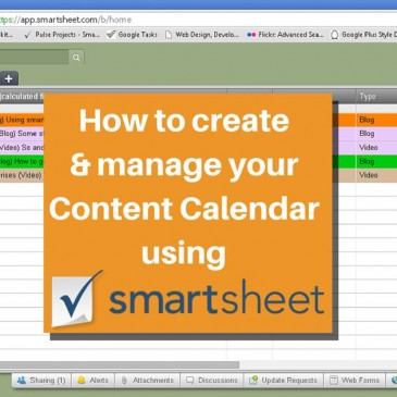 Using Smartsheet as Your Social Media Content Calendar
