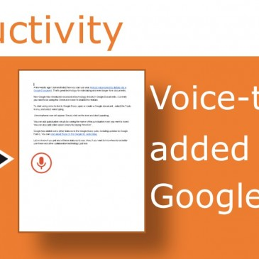 Google adds voice to text to Google Docs